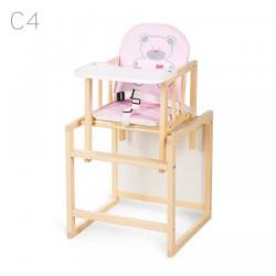 Klupś Krzesełko Wielofunkcyjne AGA sosna Różowe