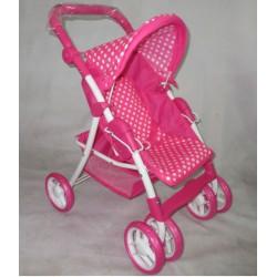 Baby Mix Wózek dla Lalek Spacerowy Różowy