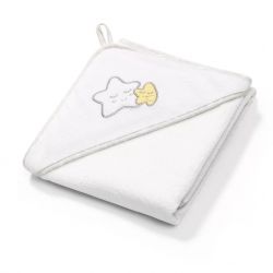 BABYONO Okrycie Kąpielowe Ręcznik z Kapturkiem 76x76