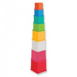 SMILY PLAY Kwadratowe Kubeczki Wysoka Wieża 43cm