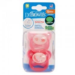 Dr Brown's Smoczek ortodontyczny 2szt.PREVENT nocny