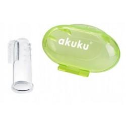 AKUKU Szczoteczka do Mycia Zębów i Masażu Dziąseł w Etui