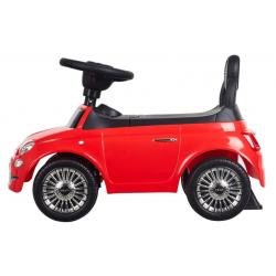 SUN BABY Jeździk FIAT 500 CORALLO Czerwony