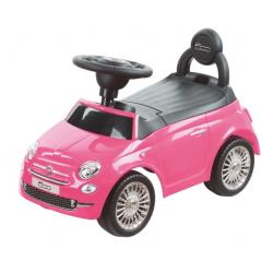 SUN BABY Pojazd Jeździk FIAT 500 Różowy