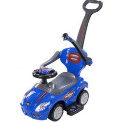 Jeździk MEGA CAR z Popychaczem Niebieski SUN BABY