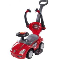 SUN BABY Pojazd Jeździk MEGA CAR z Popychaczem Czerwony
