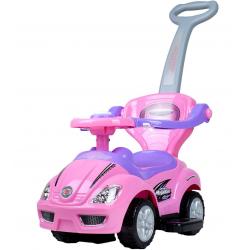 SUN BABY Pojazd Jeździk MEGA CAR z Rączką Różowy