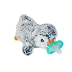 RaZ Baby Smoczek uspokajający JollyPop + Maskotka Szary Pingwin