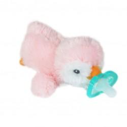 RaZ Baby Smoczek uspokajający JollyPop + Maskotka Różowy Pingwin