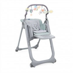 CHICCO Krzesełko do Karmienia Polly MAGIC RELAX ANTIGUAN SKY 4 Koła