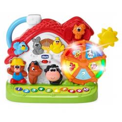CHICCO Dwujęzyczna Zabawka Edukacyjna MÓWIĄCA FARMA